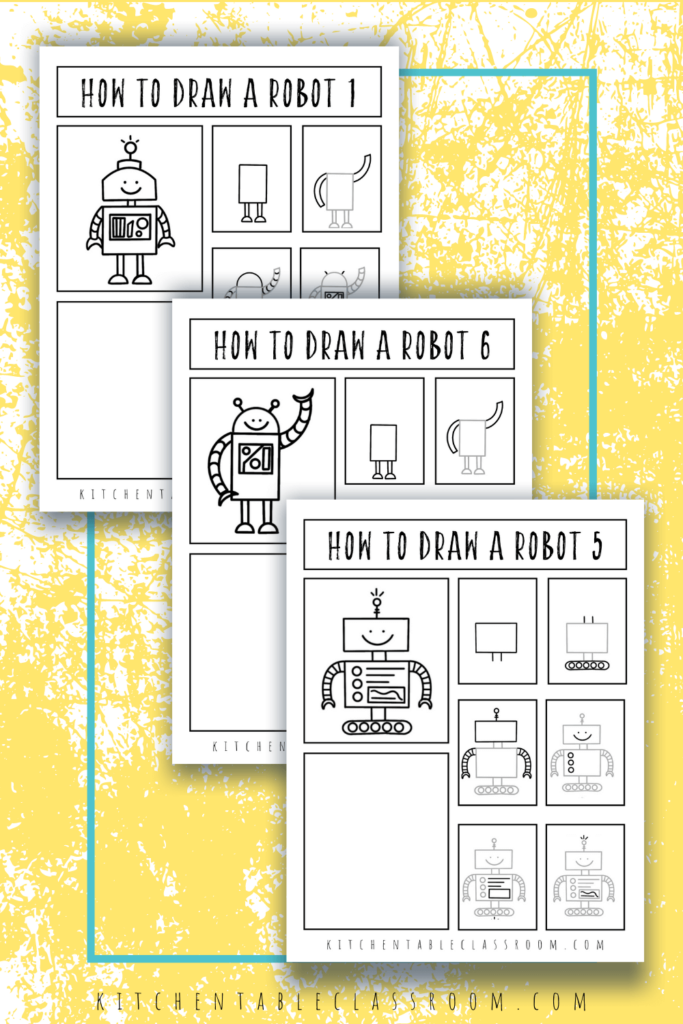 Learn how to draw robots with these fun robot drawing tutorials.