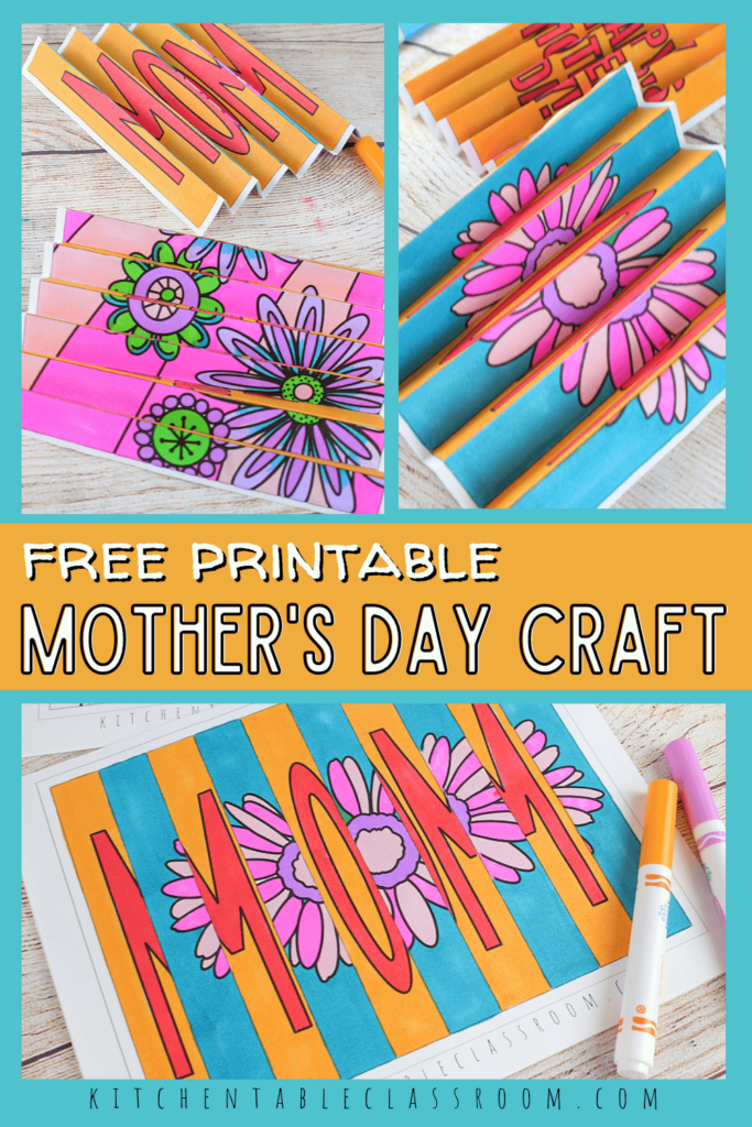 Choose from two Mother's Day agamographs for a fun and easy Mother's Day craft.