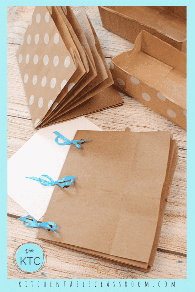 Use paper lunch bags to create your own DIY book.