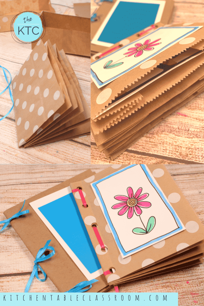 Make your own DIY book using paper bags.