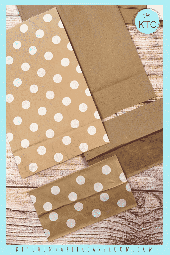 Use lunch size paper bags to make your own DIY book.