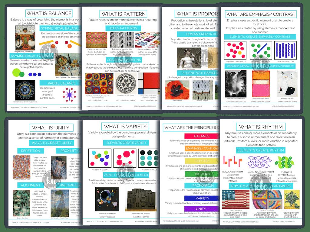 printable principles of design posters