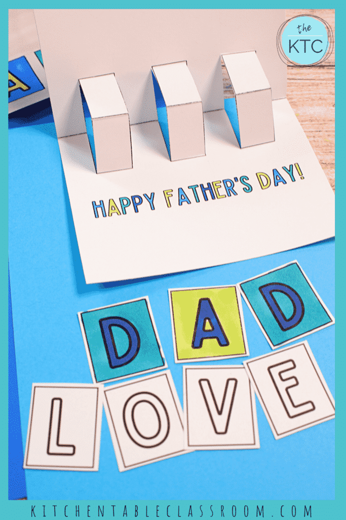 free printable Father's day card for kids to make