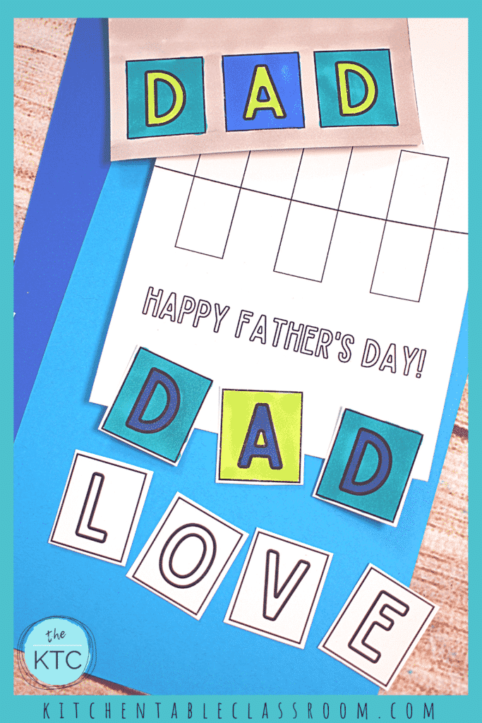 Free printable Father's day cards for kids to make