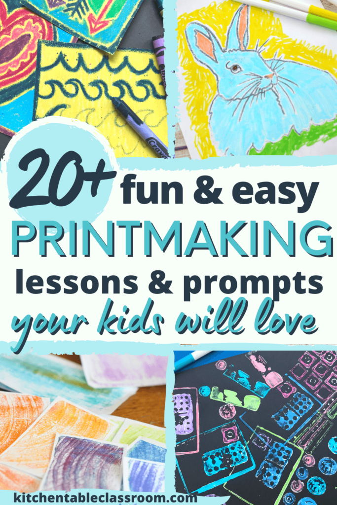 More than twenty ideas for printing with kids are a great introduction to printmaking.