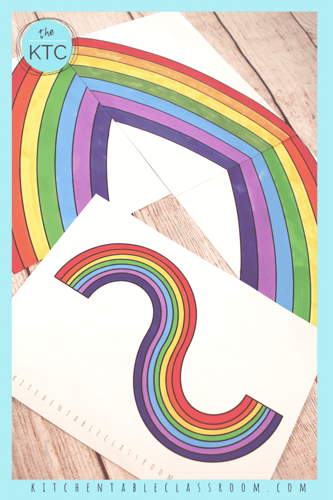This arced rainbow template comes in two different directions to allow for lots of unique rainbow designs.