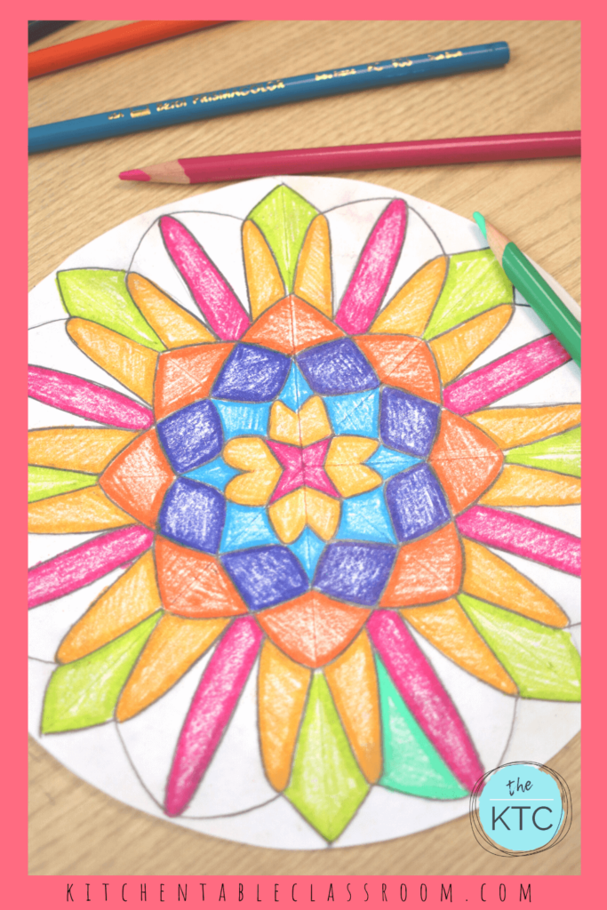 Learn to draw a mandala with this simple method.