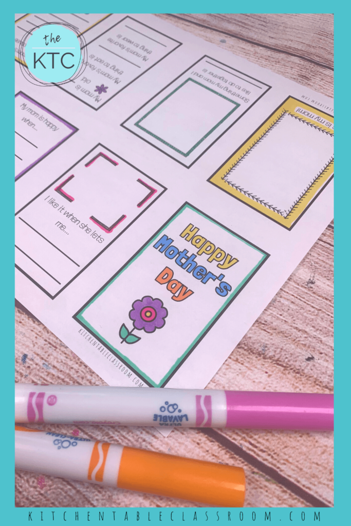 This printable Mother's Day book is a great DIY gift for mom.