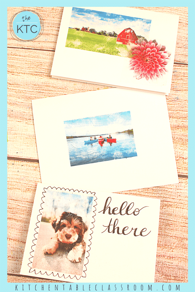 Packing tape transfers are perfect for making cards or adding to journals.