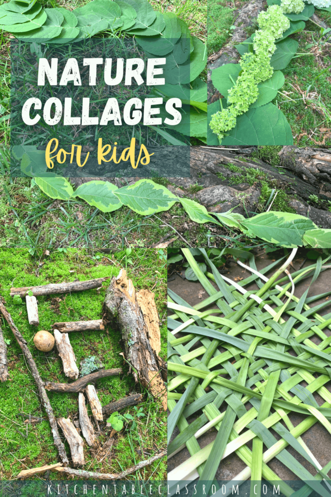 Go outside & have a treasure hunt for objects to create your own nature collages. This is an easy outdoor art activity for any age!