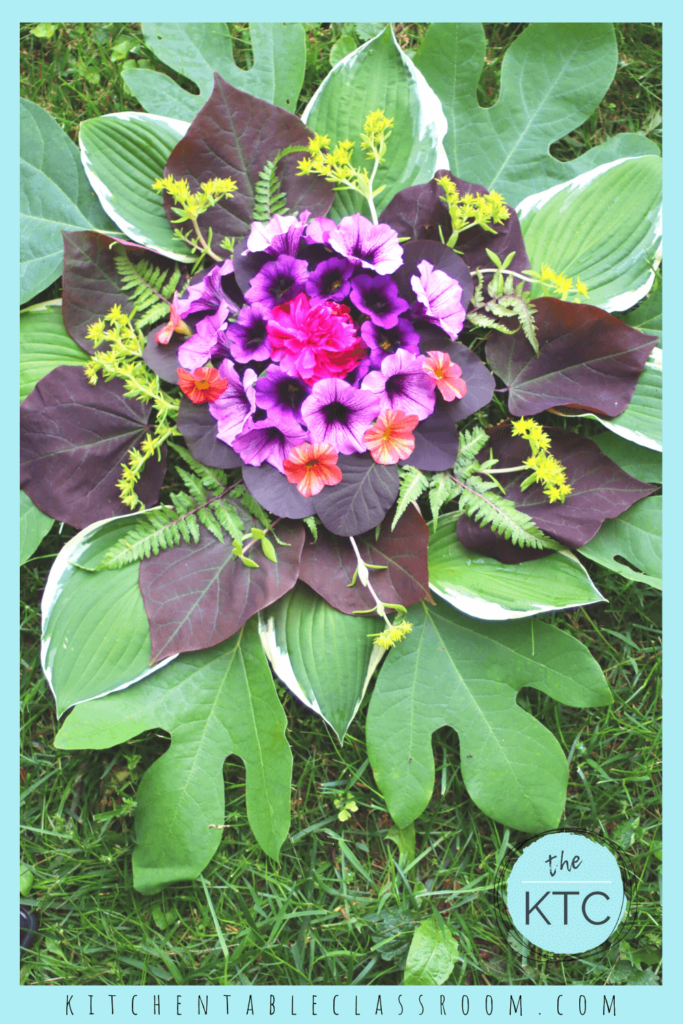 Use anything you can find in your yard to create this nature mandala!