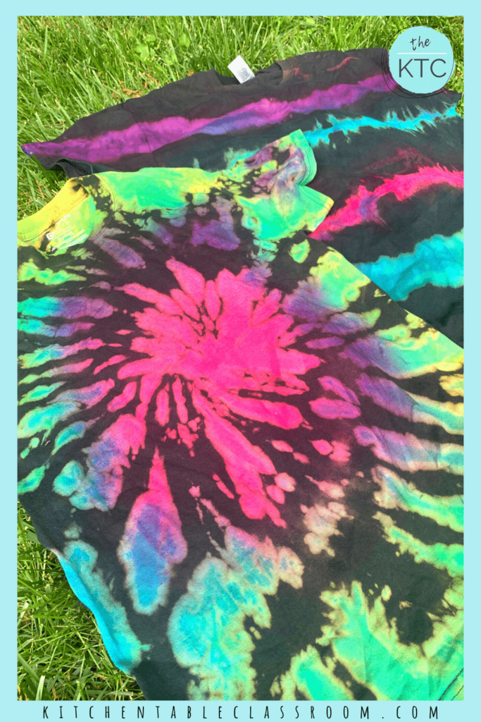 Learn how to do black tie dying with this easy reverse tie dye process.
