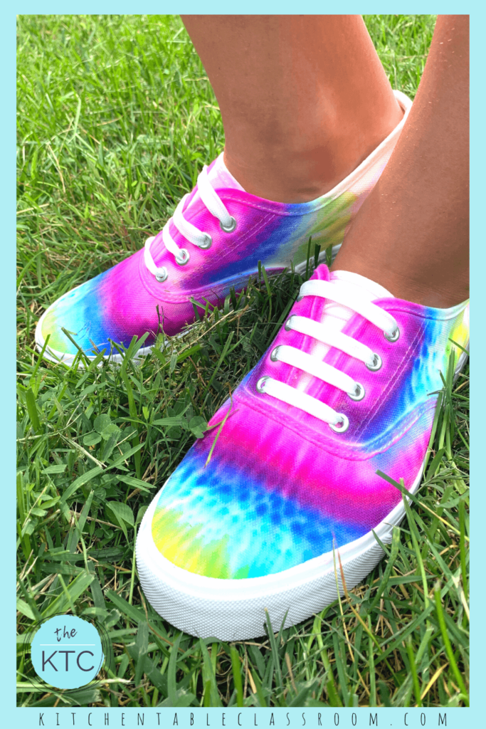 Sharpie shoes look like real tie dye but use an easier to manage process!