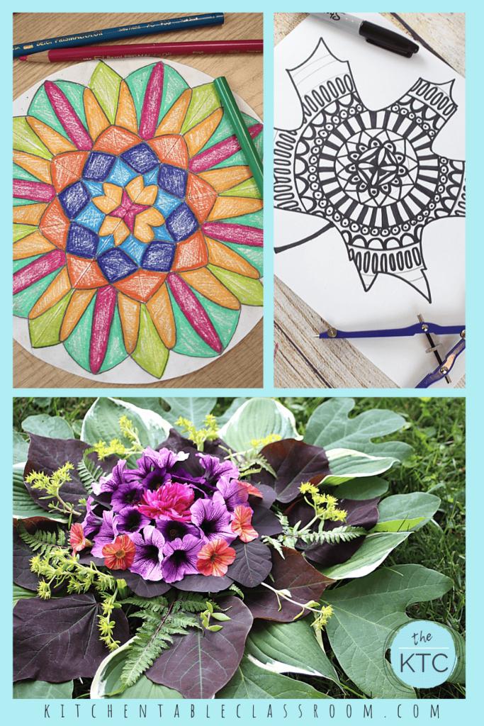 Learn how to draw a mandala, make a nature mandala and draw a leaf mandala design.